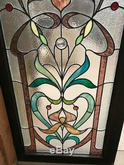 2 vitraux style 1900 art nouveau en bon état