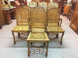 7 chaises de salle à manger style Régence hêtre