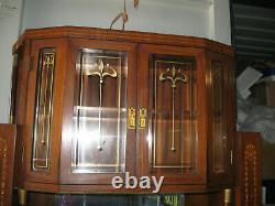 Ancien Buffet 2 Corps De Style Et D'époque Art Nouveau-avec Incrustations Nacre