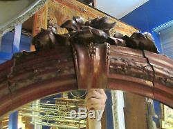 Ancien meuble de couloir patere miroir style art nouveau epoque 1900