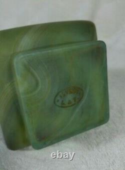 Ancien vase en verre SÈVRES L& F Style pierre dure Jade Art-nouveau Fin XIXe