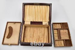 Ancienne Boite A Bijoux En Bois Et Lucite Ou Bakelite Angleterre Victorian Style