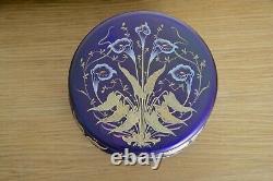 Ancienne Grande Boite Bonbonnière en Verre irisé style Loetz Art Nouveau