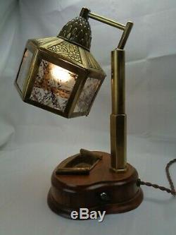 Ancienne lampe de bureau Art Nouveau style Majorelle Art Déco années 1910 1920