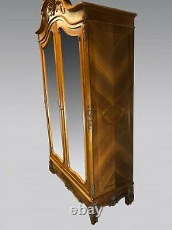 Armoire à glace style Louis XV noyer 1900