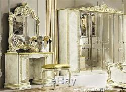 Baroque Haute Brillance Coiffeuse Commode Console Art Meubles de Style Italien