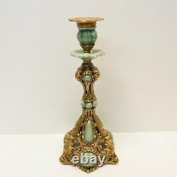 Bougeoir Style Art Deco Style Art Nouveau Porcelaine Bronze Ceramique