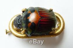 Broche ART NOUVEAU scarabée insecte jugendstil Modern Style 1900 brooch scarab