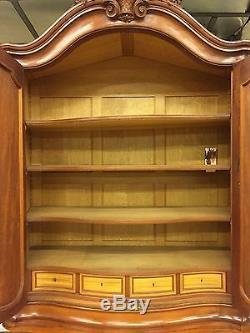 Buffet armoire style Louis XV acajou citronnier 1900
