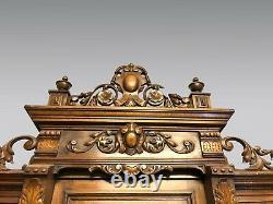 Buffet de château style Henri II Renaissance noyer 1900