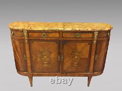 Buffet de salle à manger enfilade style Louis XVI marqueté bronzes dorés