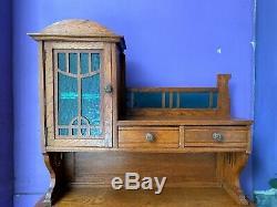 Bureau de dame Art Nouveau vers 1900, en chêne, style de Serrurier-Bovy