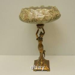 Centre de table Danseuse Style Art Deco Style Art Nouveau Porcelaine Bronze
