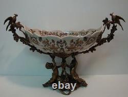 Centre de table Fruitier Perroquet Oiseau Fleur Style Art Deco Style Art Nouveau
