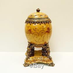 Centre de table Urne Fleur Style Art Deco Style Art Nouveau Porcelaine Bronze