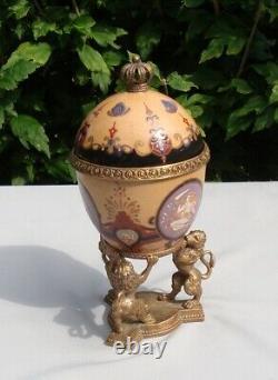 Centre de table Urne Lion Style Art Deco Style Art Nouveau Porcelaine Bronze