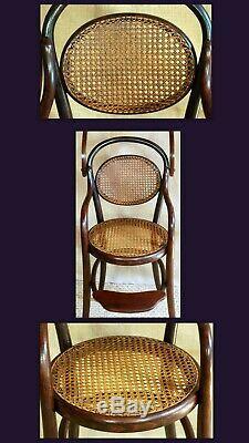 Chaise haute enfant bébé FISCHEL bois courbé style viennois époque thonet