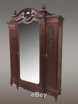 Chambre à coucher style Louis XVI acajou 1900