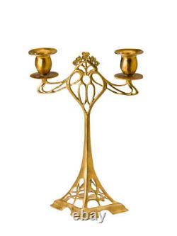 Chandeliers Chandeliers CANDLESTICK 28cm GOLDEN ART NOUVEAU STYLE ANTIQUE