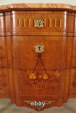 Commode marquetée style Louis XVI