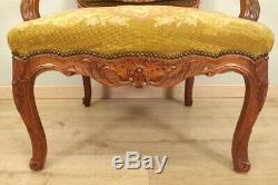 Fauteuil style Régence tapisserie petit point