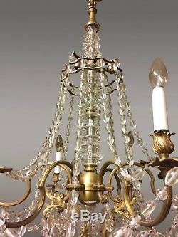Grand Lustre style Louis XV bronze