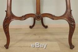 Grand chevalet de présentation noyer style Rocaille 1900