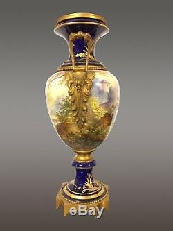 Grand vase faïence style Sèvres 1900 Art-Nouveau