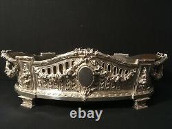 Importante jardinière argent massif style Louis XVI Orfèvre L Lapar minerve 950
