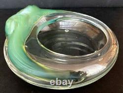 Lalique France coupe ou vide poche en cristal et pâte de verre style Art Nouveau