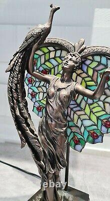Lampe Art nouveau paon style Tiffany Tiffany style peacock art nouveau lamp