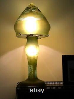 Lampe Champignon Style GALLE' art nouveau