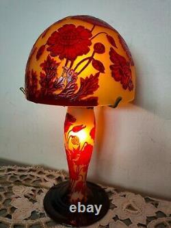 Lampe Champignon Verre Multicouche Degage A L Acide Style Galle