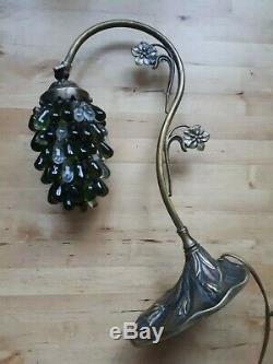 Lampe vintage Grappe de Raisins verre de Murano Style Art nouveau