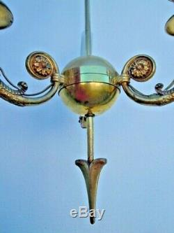 Lustre bronze style empire decor têtes bonnet phrygien empire style chandelier
