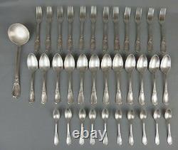 Ménagère Ercuis en métal argenté style rocaille art nouveau 35 pièces