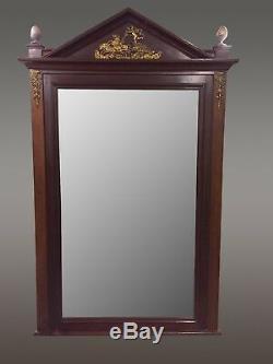 Miroir acajou style Empire bronzes dorés