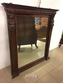 Miroir style Renaissance noyer 1900