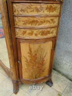 Mobilier Art Nouveau Armoire et commode psyché Jugendstil 1900 Modern Style