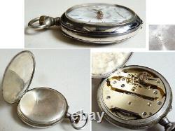 Montre gousset argent ART NOUVEAU Modern Style Jugendstil silver watch 77 gr