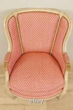 Paire De Bergères Style Louis XVI