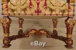 Paire De grands Fauteuils d'Apparat Style Louis XIV