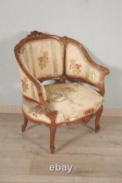 Paire de bergères style Louis XV