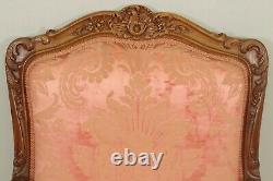 Paire de fauteuils à dos plats style Louis XV