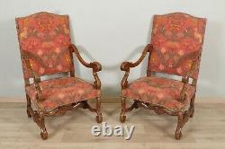 Paire de fauteuils style Louis XIV