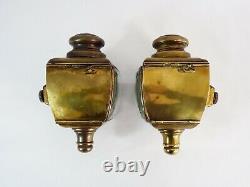 Paire de lanternes électrique de voiture en laiton Nirona 28 Style Louis XV