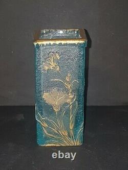 Petit Vase BLEU Daum Nancy de Style Art Nouveau