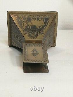 Porte allumettes Erhard & Söhne Darmstadt 1900s Art Nouveau Égypte style