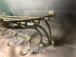 Porte manteaux Le Transsibérien style wagon lit art déco en métal chromé