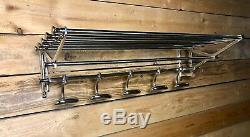 Porte manteaux / serviettes Wagon Express style Art déco chromé long. 78 cm